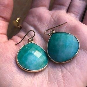 Anthropologie green gem drop earrings Jemma Sands